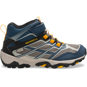 Merrell M-Moab FST Mid A/C Waterproof Shoes Kids navy/stone